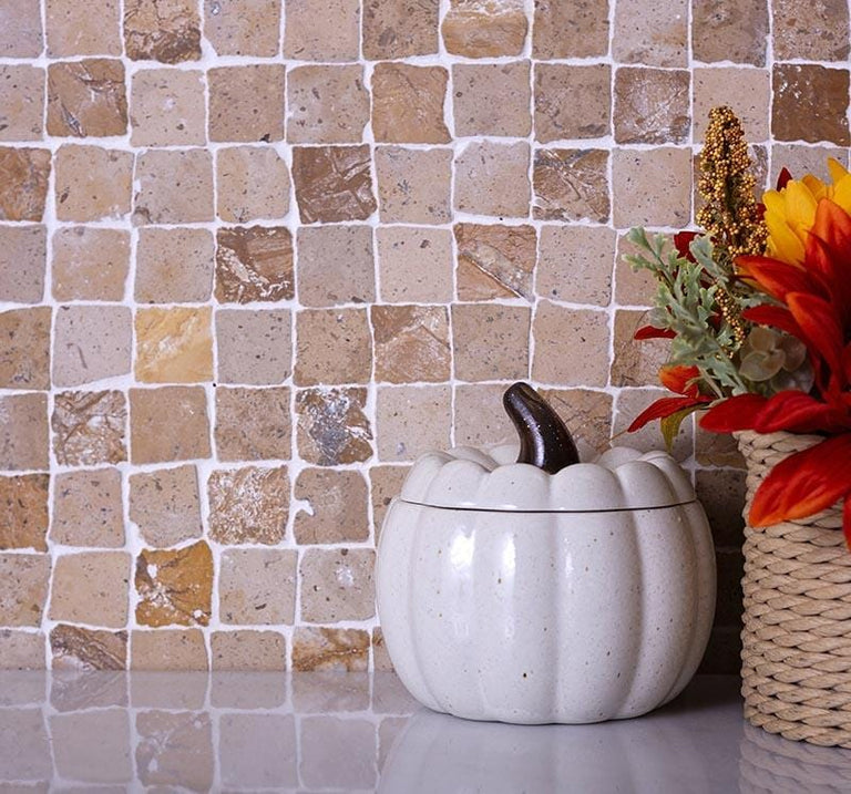 beige travertine mosaic tile