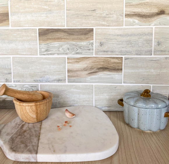 wood subway tile