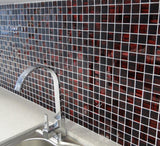 small square mosaic tiles