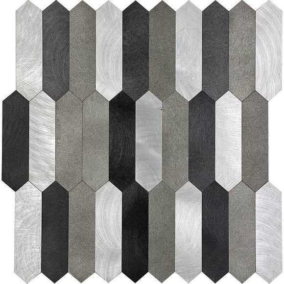 Modern Picket Peel and Stick Tile Sheets