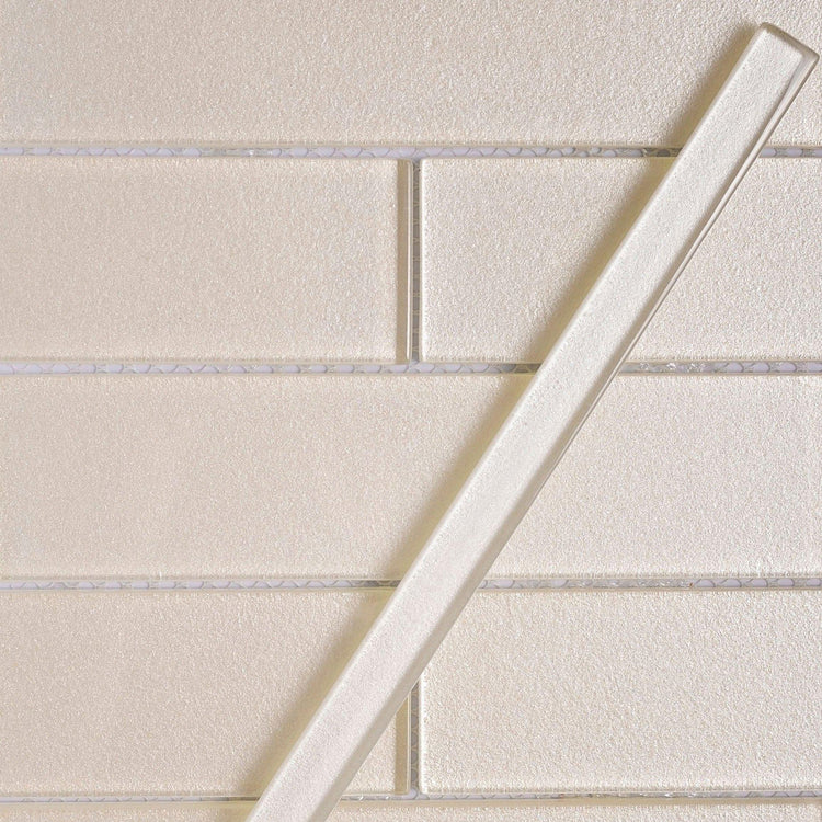 Stardust Ice Pencil Glass Molding and Tile Trim
