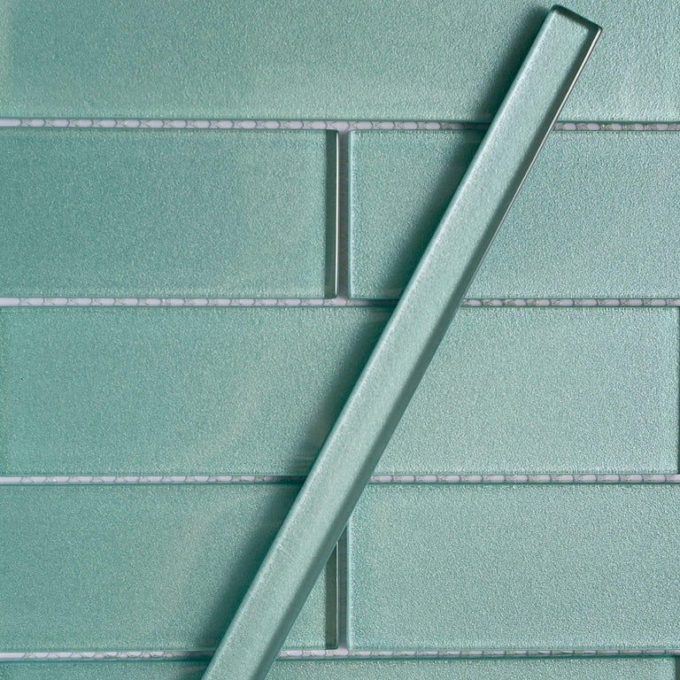Stardust Marine Pencil Glass Molding and Tile Trim