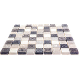 Ethnic Grey Etched Mosaic Tile