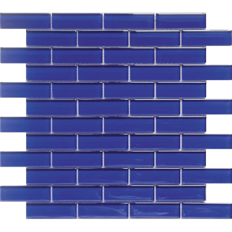 Cobalt Blue Glass Brick Tile