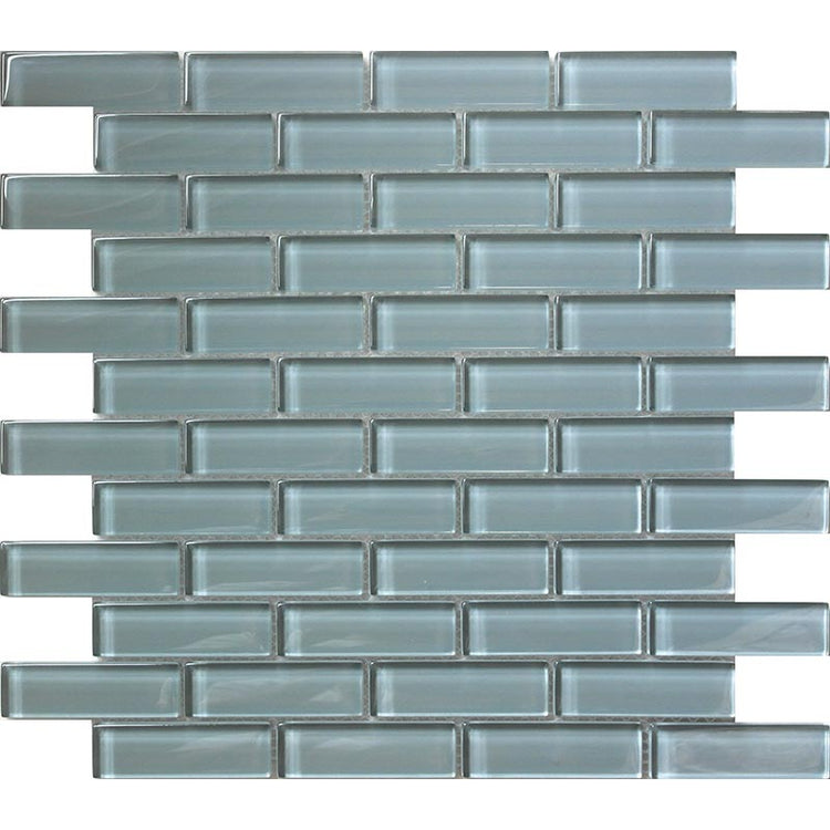 Chic Gray Glass Brick Tile