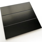 Black 4x12 Matte Ceramic Subway Wall Tile