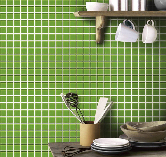 Springhill Green 1x1 Polished Glass Tile
