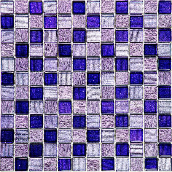 Eclectic Purple Square Mosaic Tile
