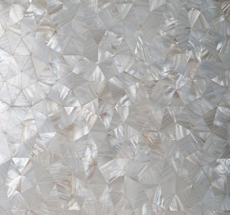 Pure White Natural Pearl Mosaic Tile|Tile Club