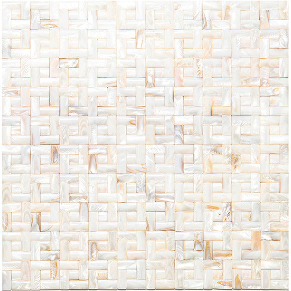 3D Weave Mother Of Pearl Mosaic Tile
