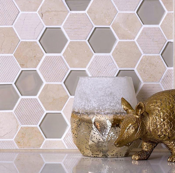 CREMA MARFIL HEXAGON TILE