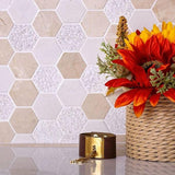 Honeycomb White Tile| Tile Club| Honeycomb Tile Pattern