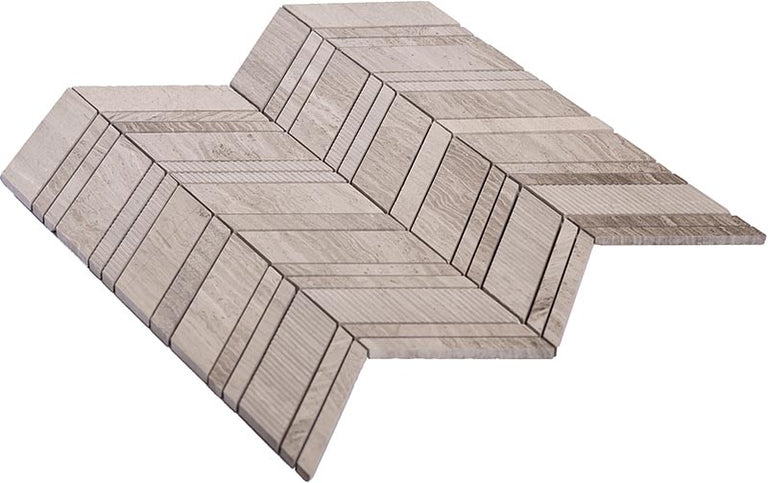 chevron wood tile