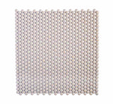 White Pearl Penny Recycled Glass Mosaic Tile