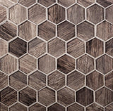 Aesthetic Wooden Glass Hexagon Tile