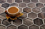 Wooden Glass Hexagon Tile for your kitchen countertop