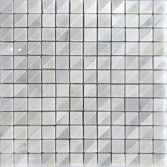 White Marble Polished and Honed 1x1 Mosaic Tile