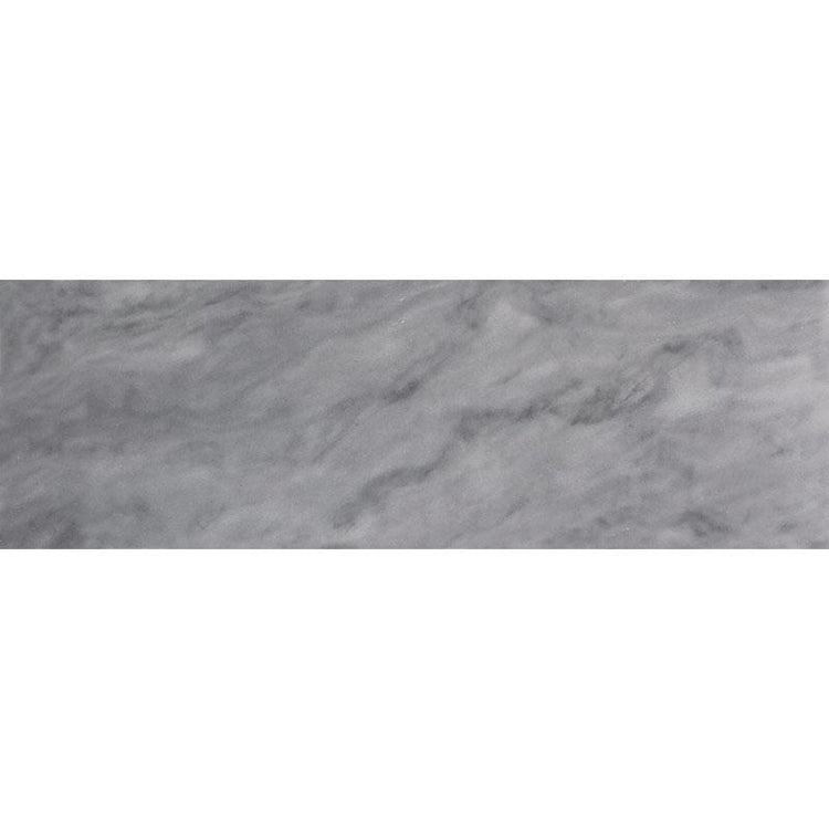 "4"" x 12"" Bardiglio Honed Marble Wall & Floor Tile 