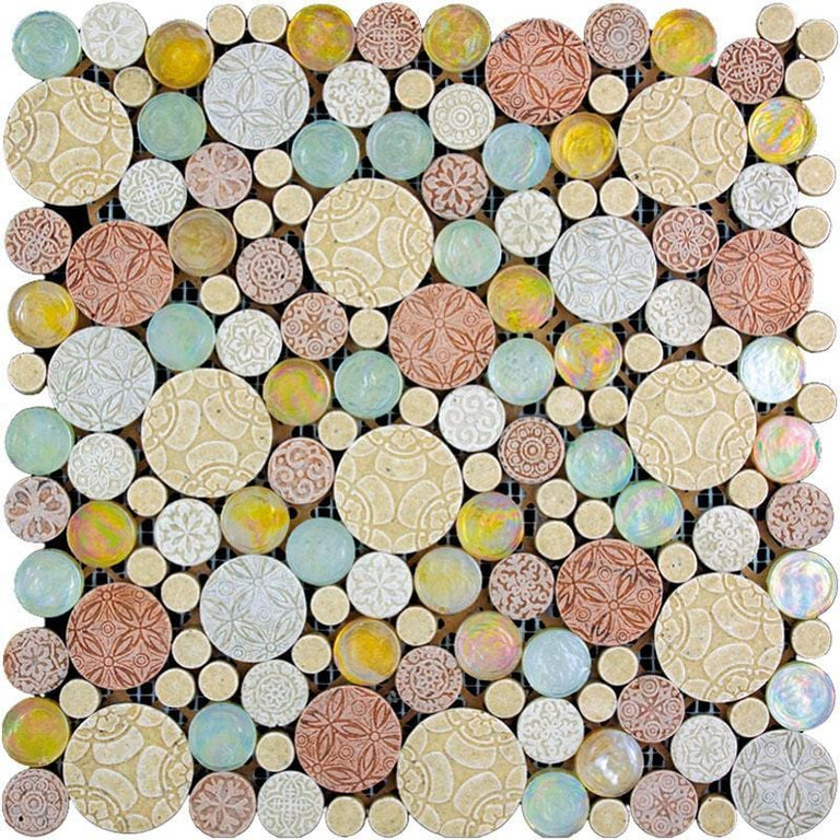 bubble mosaic tile