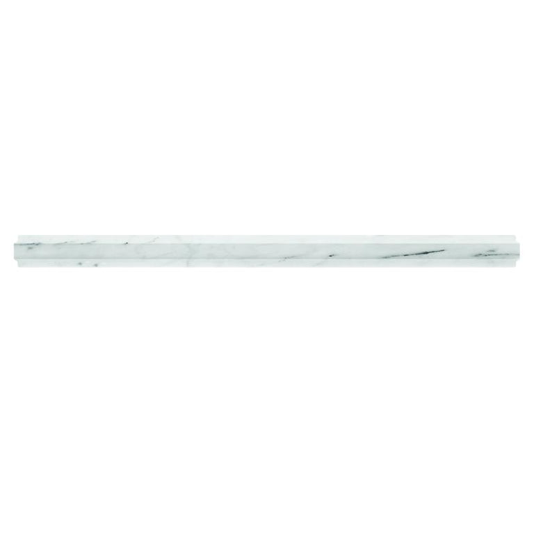 Bianco Carrara Marble Nova Pencil Liner Polished | Tile Club | Position1