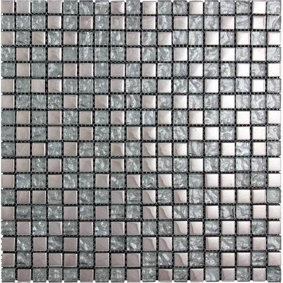 Tile Club | Breeze Silver Glass Mosaic Wall & Floor Tile position: 1