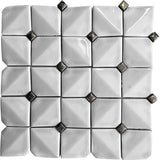 Chateau White Square Ceramic Mosaic Tile | Tile Club | Position1
