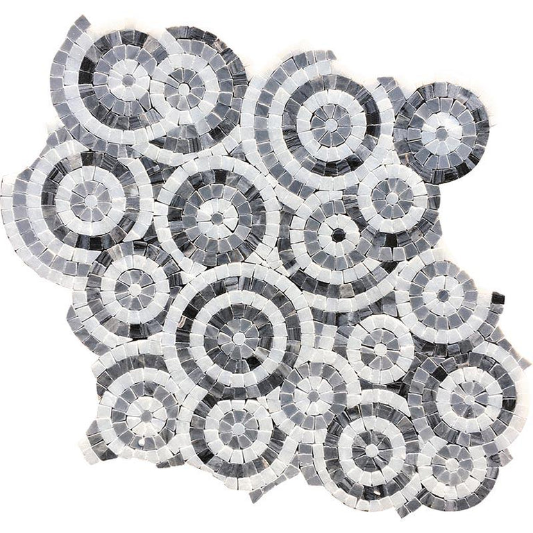 "12.2"" x 12.2"" Circles Micro Mosaic Tile 