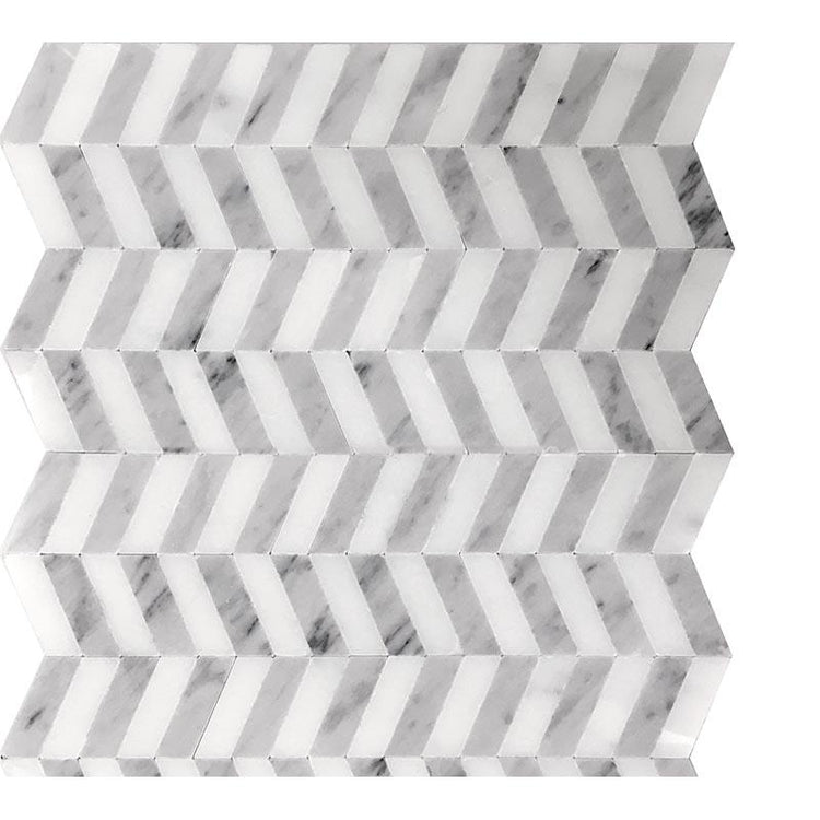 Contemorary Chevron Marble Mosaic Tile | Tile Club | Position1