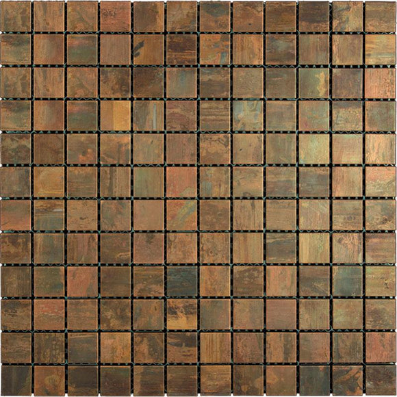 Tile Club | Copper 1X1 Square Metal Mosaic Wall & Floor Tile position: 1