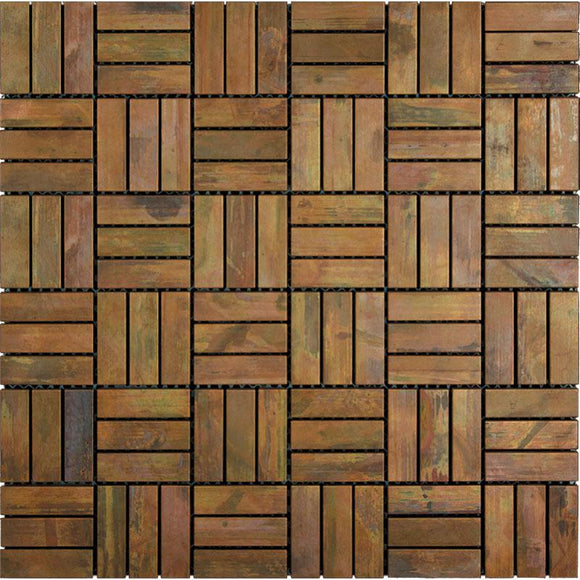 copper metal mosaic tile