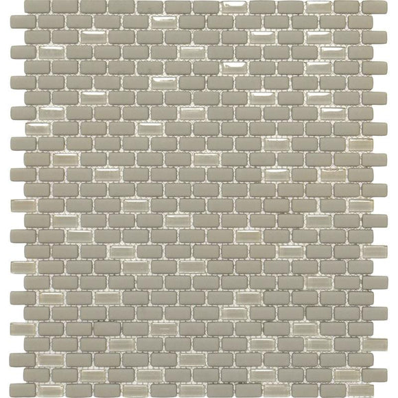 Cream Recycled Glass Brick Mosaic Tile | Tile Club | Position1