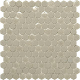 Cream Recycled Glass Hexagon Mosaic Tile | Tile Club | Position1