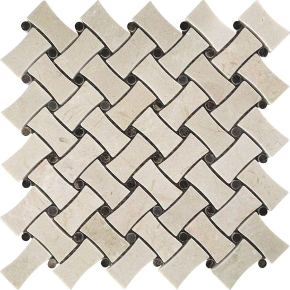 curved basket weave tile