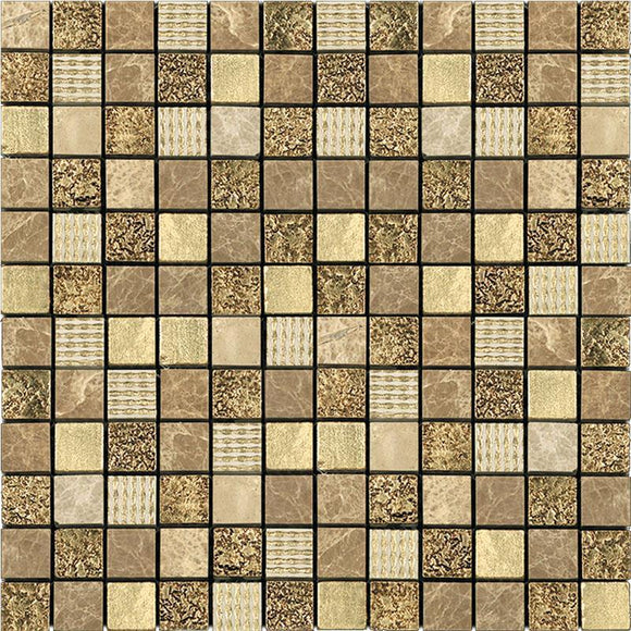 Eclectic Light Gold Square Mosaic Tile | Tile Club | Position1