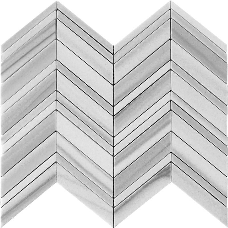 Equator Chevron polished mosaic tile