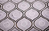 Evil Eye Carrara Marble Mosaic Tile for elegant living room