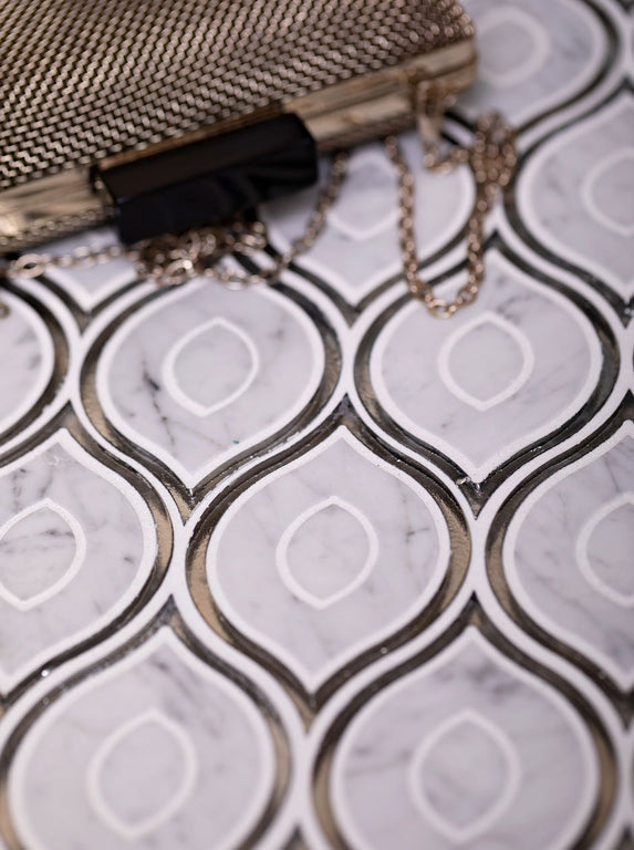 Evil Eye Carrara Marble Mosaic Tile Decor Ideas