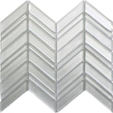 Fabrique White Chevron Glass Mosaic Tile | Tile Club | Position1