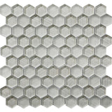 Fabrique White Hexagon Glass Mosaic Tile | Tile Club | Position1