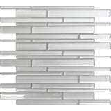 Fabrique White Linear Glass Mosaic Tile | Tile Club | Position1