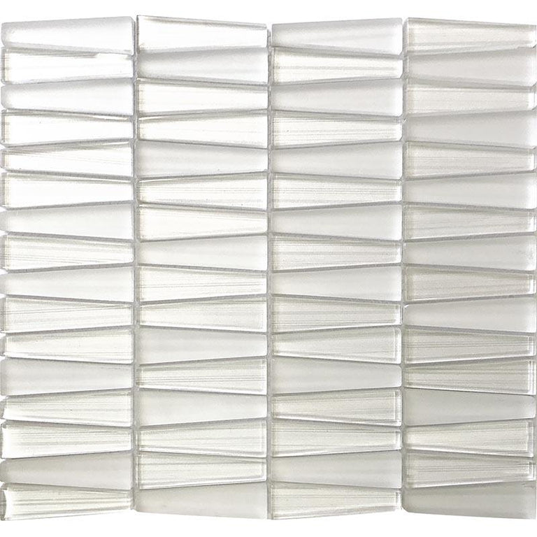 Fabrique White Triangle Glass Mosaic Tile | Tile Club | Position1