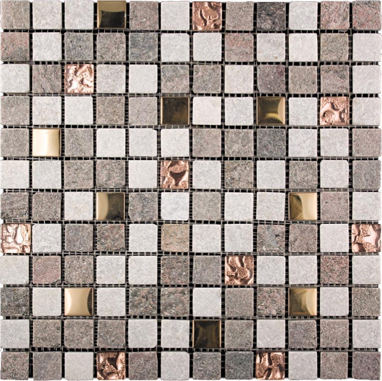 Tile Club | Geological Copper Mosaic Wall & Floor Tile position: 1