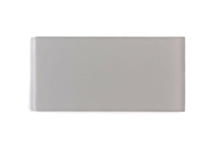 Glacier Aura Gray 3X6 Frosted Glass Tile Position: 1