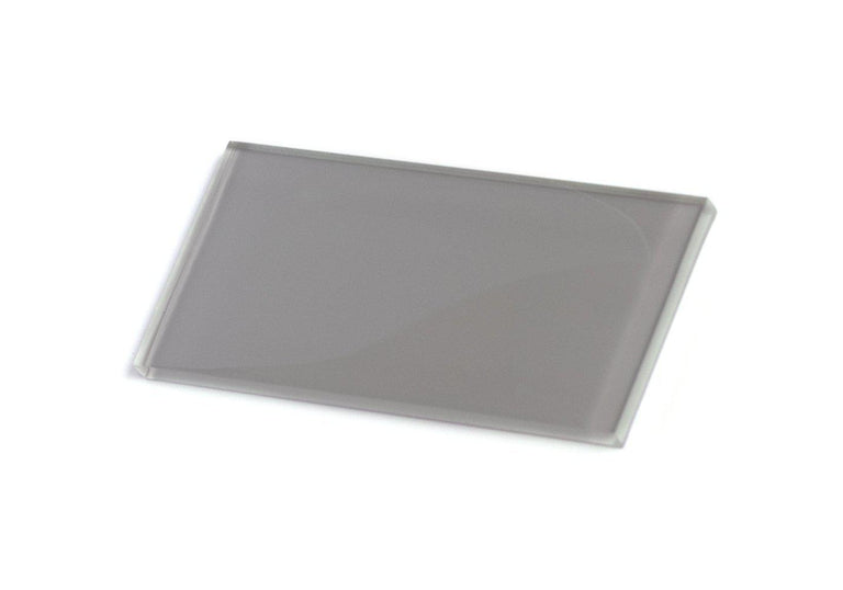 Glacier Aura Gray 3X6 Polished Glass Tile Position: 1
