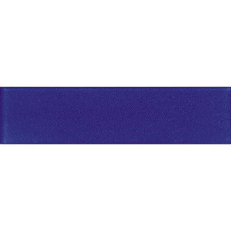 Glacier Cobalt Blue 3X12 Frosted Glass Tile | Tile Club