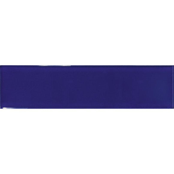 Glacier Cobalt Blue 3X12 Polished Glass Tile | Tile Club | Position1