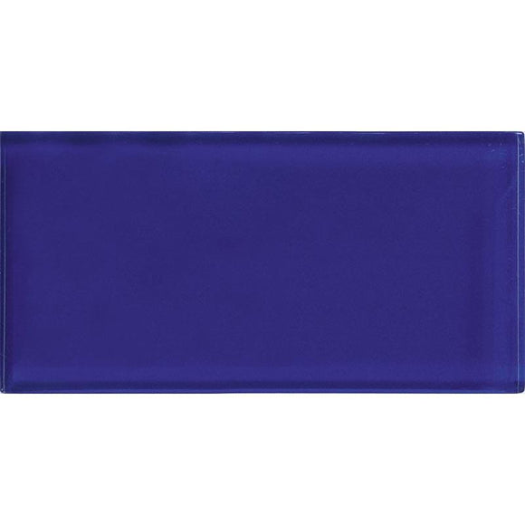 Glacier Cobalt Blue 3X6 Polished Glass Tile | Tile Club | Position1