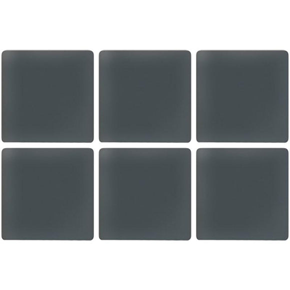 Glacier Dark Gray 1X1 Frosted Glass Tile | Tile Club | Position1