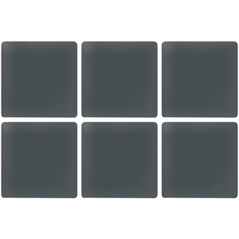 Glacier Dark Gray 1X1 Frosted Glass Tile