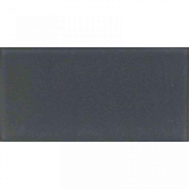 Glacier Dark Gray 3X6 Frosted Glass Tile | Tile Club | Position1